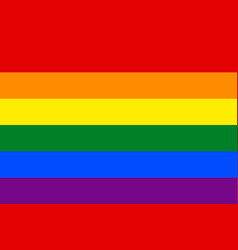 Rainbow pride flag lgbt movement vector