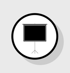 blank projection screen  flat black icon vector image