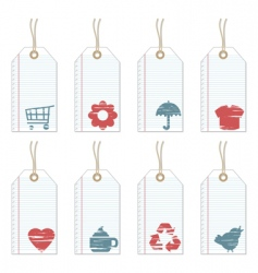 Note paper tags vector