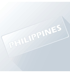 Philippines unique button vector