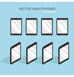 Modern flat smartphone icons set vector