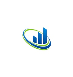 Business finance chart technology blue logo vector
