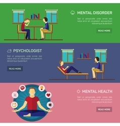 Mental disorder psychological treatment vector
