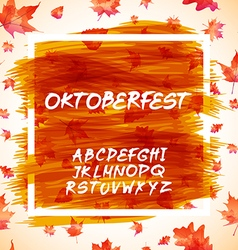 Oktoberfest celebration design with bavarian hat vector