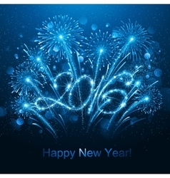 New Year 2016 fireworks vector image
