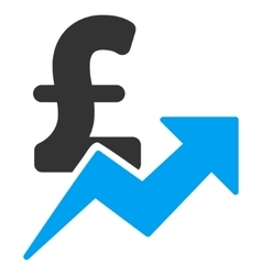 Pound sales growth flat icon symbol vector