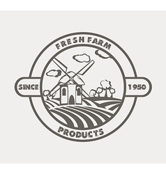 Natural Organic food concept icon vector image