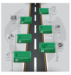 Road and street traffic sign business travel vector
