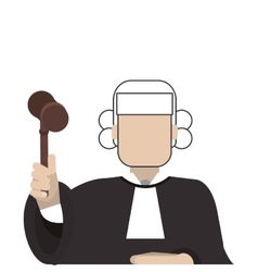 Court judge icon vector
