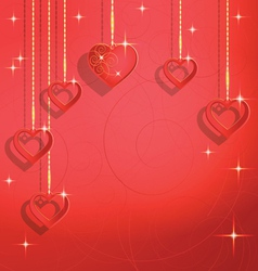 abstract background to the Valentines day vector image vector image