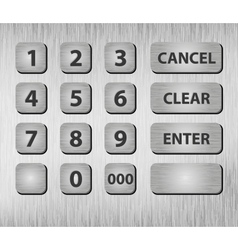ATM buttons vector image