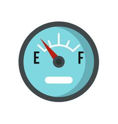 automobile fuel sensor icon flat style vector image
