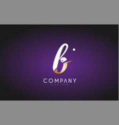 b alphabet letter gold golden logo icon design vector image vector image