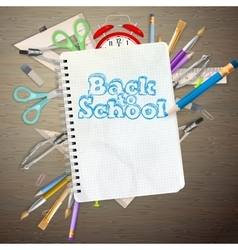 Back to school concept eps 10 vector
