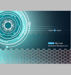 background with futuristic elements 2 vector image vector image