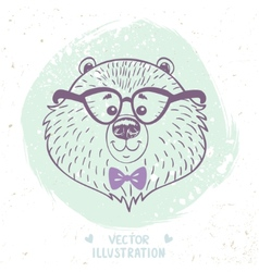 bear cute vector image vector image