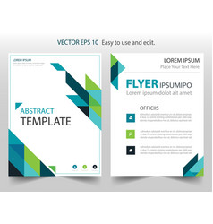 Blue green abstract triangle annual report vector
