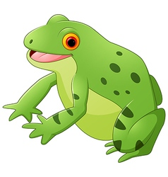 Cartoon happy frog vector image