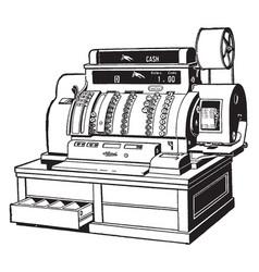 Cash register vintage vector