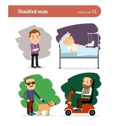Disabled persons vector image vector image