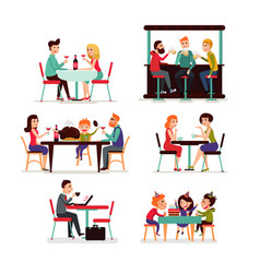 eating people set vector image vector image