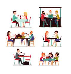 eating people set vector image