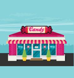 facade of candy shop flat vector image vector image