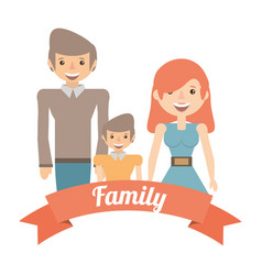 Family dad and mom son lifestyle image vector