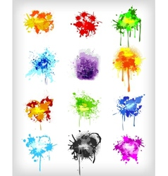 Grungy design colorful elements set vector image