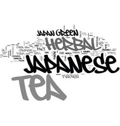 Japanese herbal tea text background word cloud vector