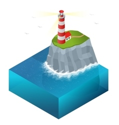 Lighthouse isometric vector image