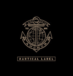 nautical label vector image