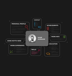 Original creative cv resume template vector