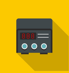 Professional tattoo machine icon flat style vector