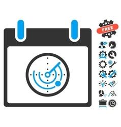 Radar calendar day icon with bonus vector