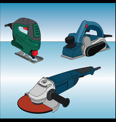 Set of electric tools vector