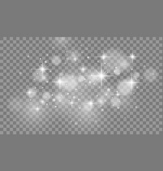 set of glow light effect isolated on transparent vector image vector image