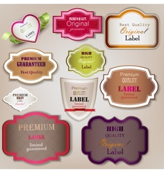 Set of Superior Quality and Satisfaction Guarantee vector image
