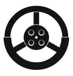 Steering wheel icon simple style vector