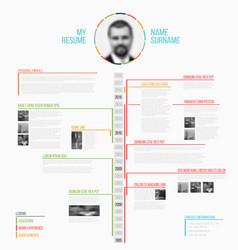 timeline minimalist cv resume template royalty free vector