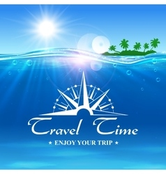 Travel time poster enjoy your trip banner vector