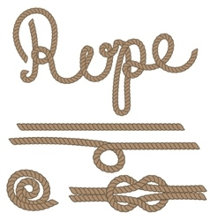 Twine rope knot brush Brown pattern string vector image