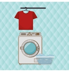 washing machine clothes detergent vector image