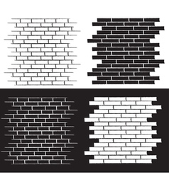 Background of the brick wall set vector