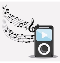 Mp3 music note sound media festival icon vector