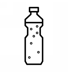 Plastic bottle with drinking water vector