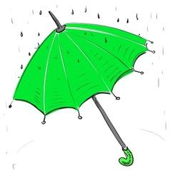 Umbrella under the rain vector image