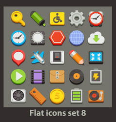 Flat icon-set 8 vector