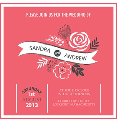 Wedding invitation or announcement vector