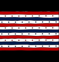 Patriotic background with lines and stars vector